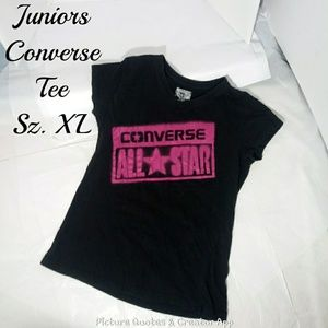 Converse All Stars V Neck Tee Juniors XL